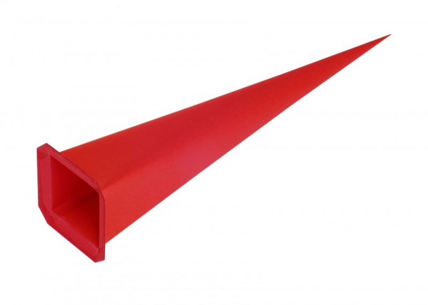 Einzelzacke I8 - Viereck, rot