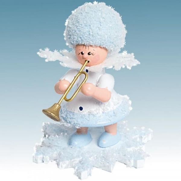 Schneeflöckchen mit Trompete, Artikel 43111 Sammelfigur, Höhe ca. 5 cm