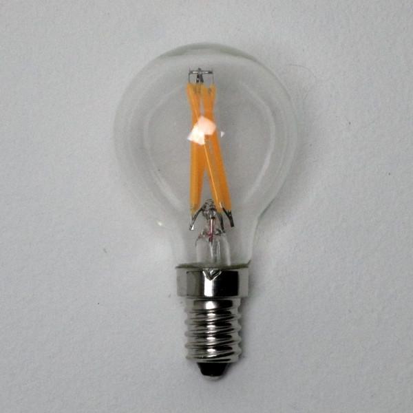 """LED-Tropfenlampe E14, 3,5 Watt (entspr.32 W Glühl.), klar 300 ° Abstrahl-Winkel durch """"Glühfaden-Technik"""""""