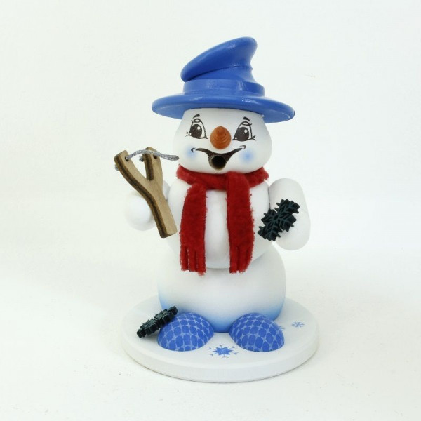Schneemann Sigi klein Schneeflockenwerfer Räucherm. ca.13 cm