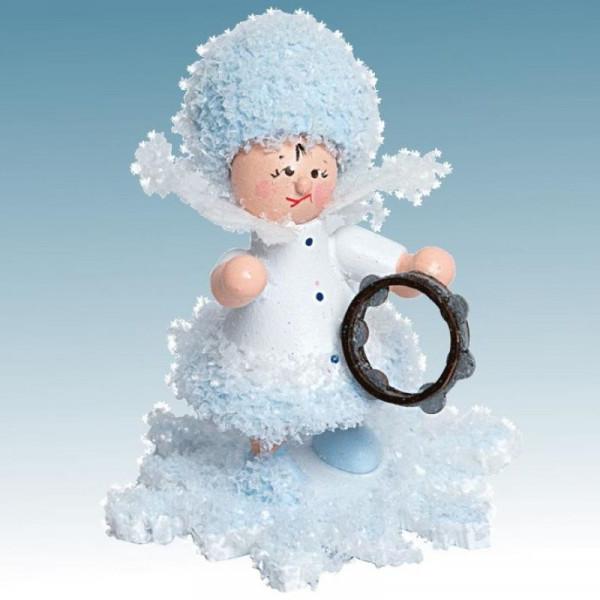 Schneeflöckchen mit Tamburin, Artikel 43113 Sammelfigur, Höhe ca. 5 cm
