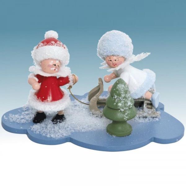 Schneeflöckchen und Weihnachtsmann, Artikel 43341 Sammelfigur, ca. 100 x 70 x 60 mm