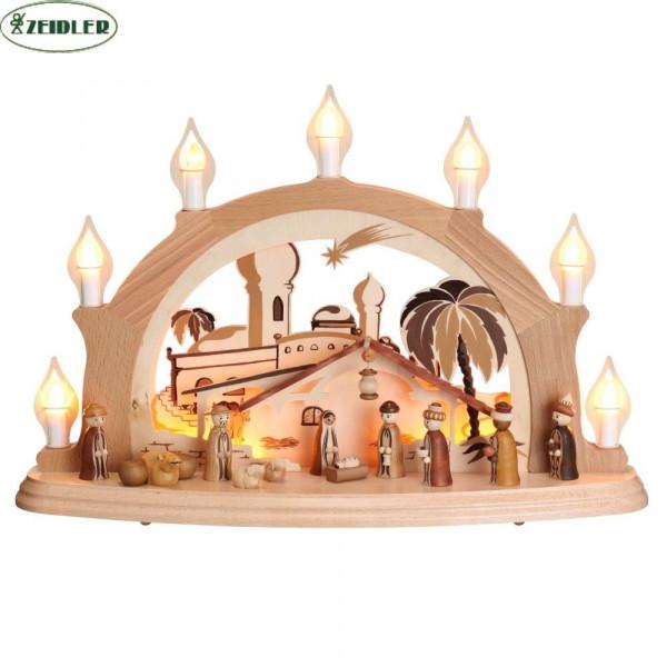 """Schwibbogen """"Christi Geburt"""" - elektrisch, 7 Kerzen"""
