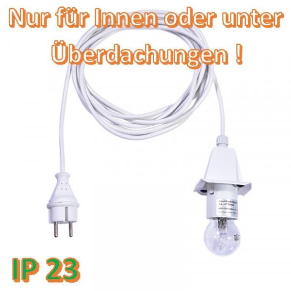 Weißes Anschlußkabel für Herrnhuter Außenstern A4/ A7 Weiß