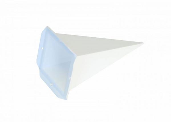 Einzelzacke A4 - Viereck, weiß