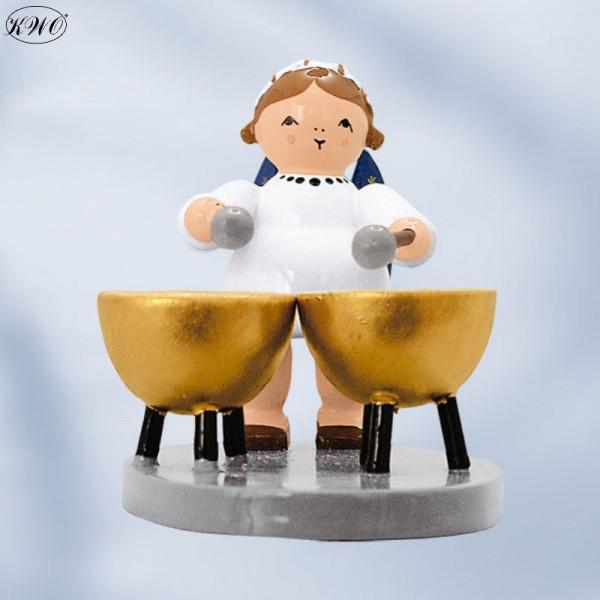 Engel mit 2 Pauken, 5 cm