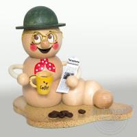 Erzgebirgische Räucherfigur Kaffeepause Rudi, 37030 Höhe ca. 13 cm