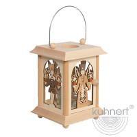 """Echt Erzgebirgische Tischlaterne """"Engel & Bergmann"""" 27050 Kuhnert Holzkunst Höhe ca. 16,5 cm (ohne Bügel)"""