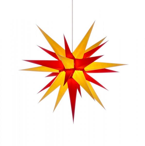 Herrnhuter Adventsstern I7, 70 cm Gelb-Rot