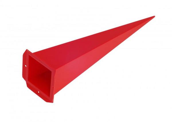 Einzelzacke A7 - Viereck, rot