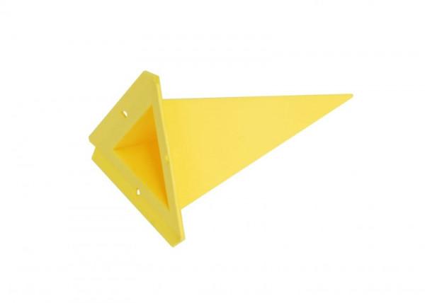Einzelzacke A4 - Dreieck, gelb