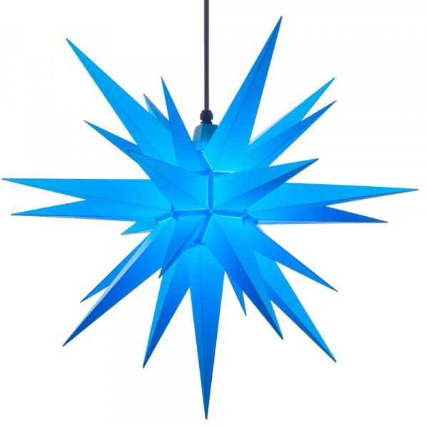 Herrnhuter Adventsstern Außenstern 68 cm Blau Kunststoffstern für Außen- und Innenbereich geeignet
