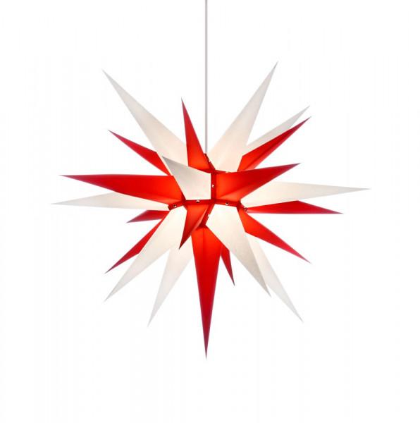 Herrnhuter Adventsstern I7, 70 cm Weiß-Rot