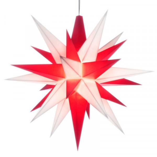 Herrnhuter Adventsstern Kunststoff 13 cm Weiß-Rot