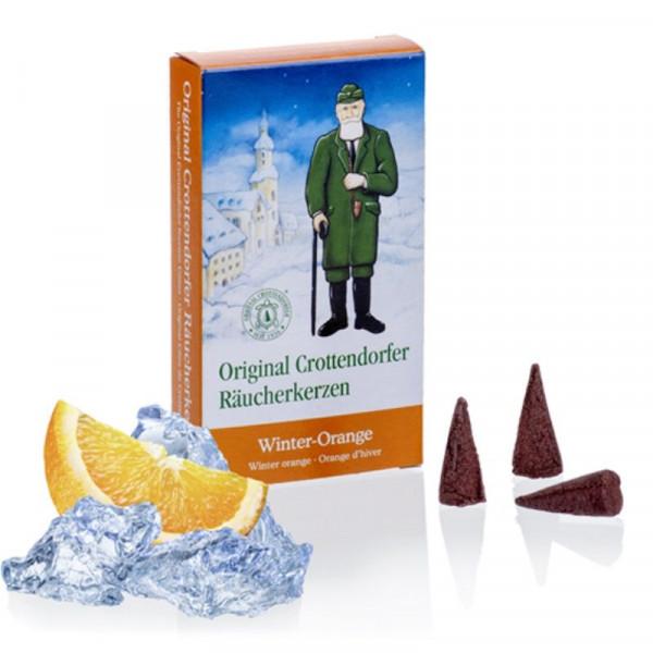 Original Crottendorfer Räucherkerzen - Winter-Orange