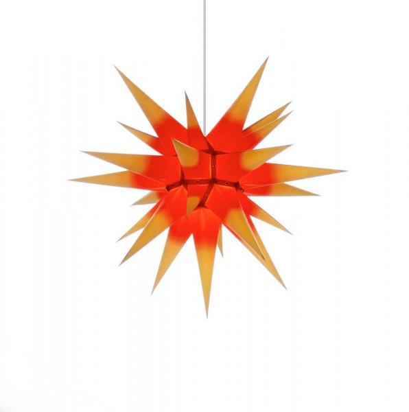 Herrnhuter Adventsstern I6, 60 cm Gelb mit rotem Kern