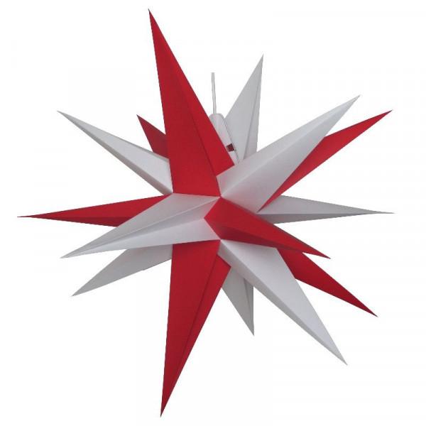 Annaberger Faltstern Nr. 7 (70 cm) rote+ weiße Spitzen