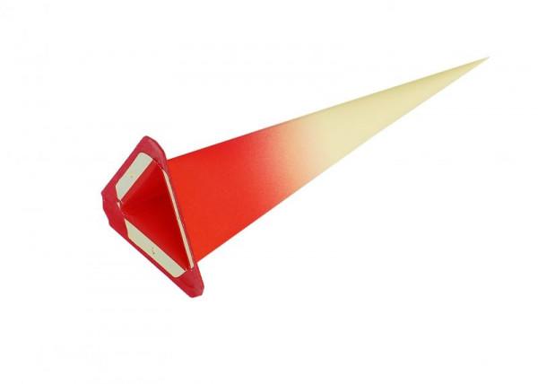Einzelzacke I7,I8 - Dreieck gelb/ roter Kern Ersatzzacke für Herrnhuter Stern I7 und I8