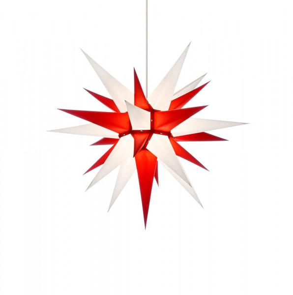 Herrnhuter Adventsstern I6, 60 cm Weiß-Rot