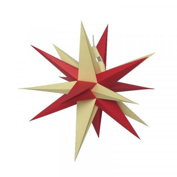 Annaberger Faltstern Nr. 3 ( 35 cm) rote+ gelbe Spitzen Original Erzgebirgischer Faltstern aus Annaberg- Buchholz