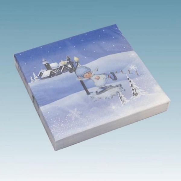 Schneeflöckchen Servietten Motiv Laterne