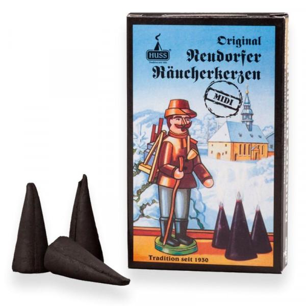 Original Neudorfer Räucherkerzen Weihrauchduft Größe Midi Original Erzgebirgische Räucherkerzen der Firma Huss