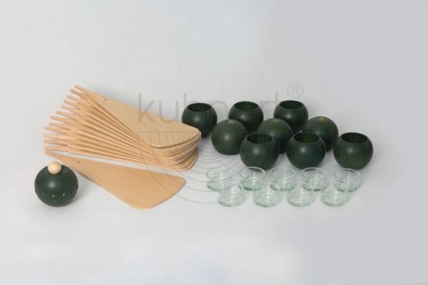 Kugelsatz Grün (9 Stück) für Massivholzpyramide 60 cm