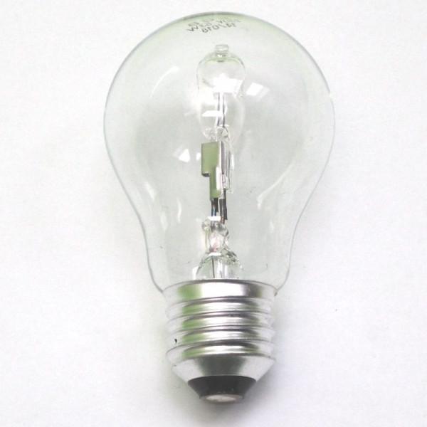 Halogenlampe E27, 53 Watt (entspricht 70W Glühlampe), klar