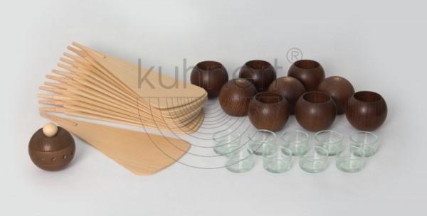 Kugelsatz Braun (9 Stück) für Massivholzpyramide 60 cm