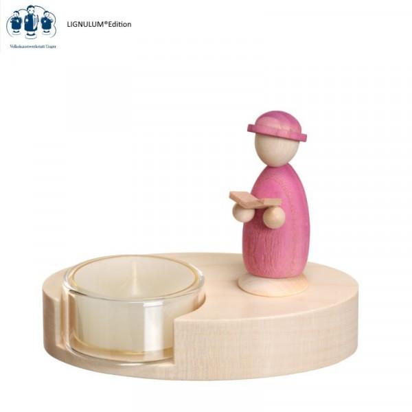 """Teelichthalter Codex Farbgestaltung """"pupura"""""""