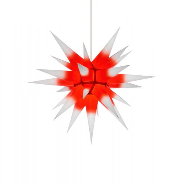 Herrnhuter Adventsstern I6, 60 cm Weiß mit rotem Kern
