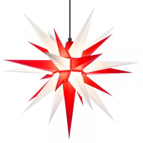 Herrnhuter Adventsstern Außenstern 68 cm Weiß-Rot