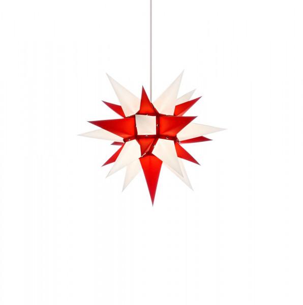 Herrnhuter Adventsstern I4, 40 cm Weiß-Rot