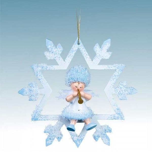 Schneeflöckchen mit Klarinette im Kristall, Artikel 43044