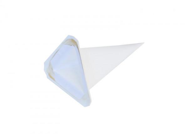 Einzelzacke I4 - Dreieck weiß