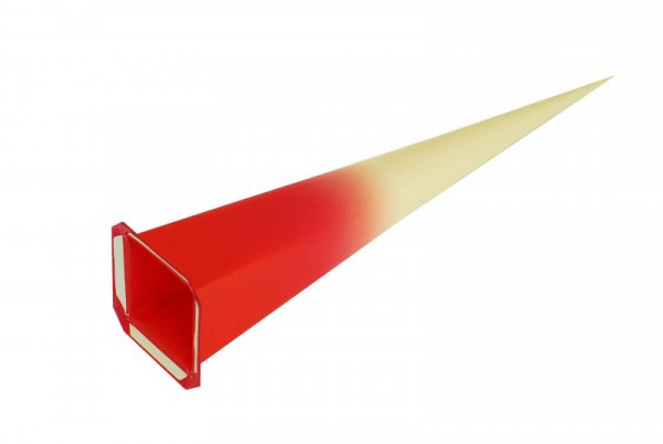 Einzelzacke I8 - Viereck, gelb/ roter Kern
