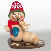 Erzgebirgische Räucherfigur Weihnachtsmark Rudi,37029 Höhe ca. 13 cm