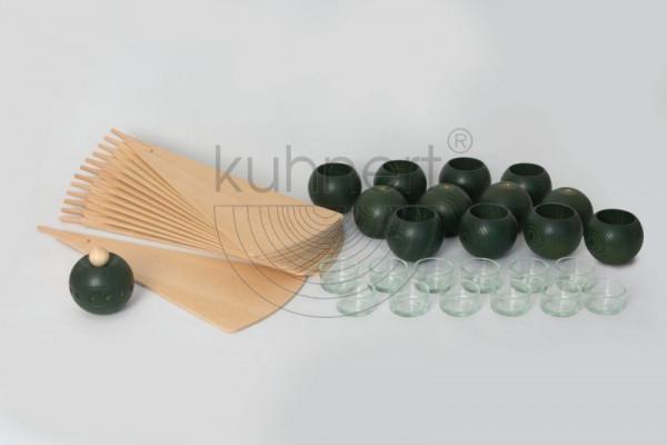 Kugelsatz Grün (12 Stück) für Massivholzpyramide 85 cm