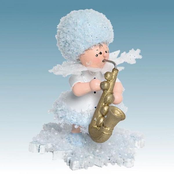 Schneeflöckchen mit Saxophon, Artikel 43115 Sammelfigur, Höhe ca. 5 cm
