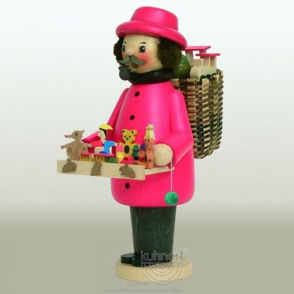 Kuhnert Räuchermann Spielzeughändler farbig, Artikel 32049