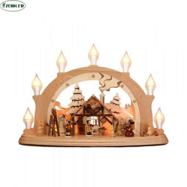 """Schwibbogen """"Weihnachtsstimmung"""" - elektrisch, 7 Kerzen"""