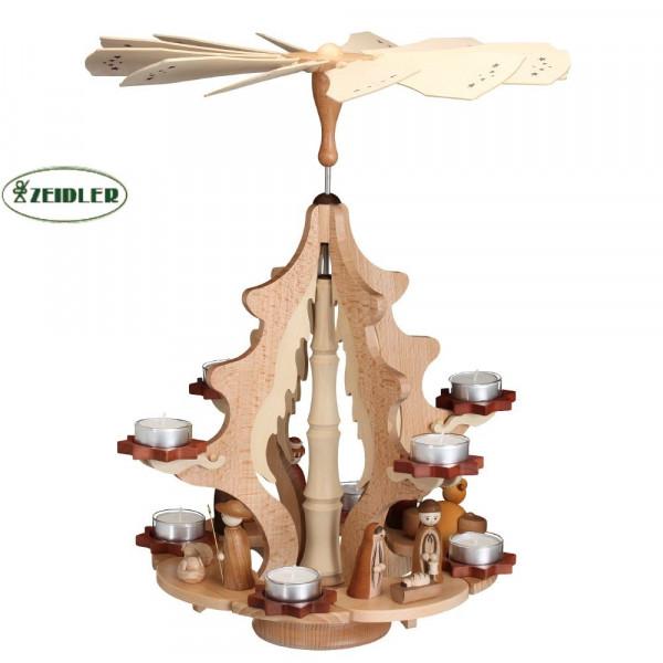 """Pyramide Weihnachtskranz """"Christi Geburt"""" für 8 Teelichter"""