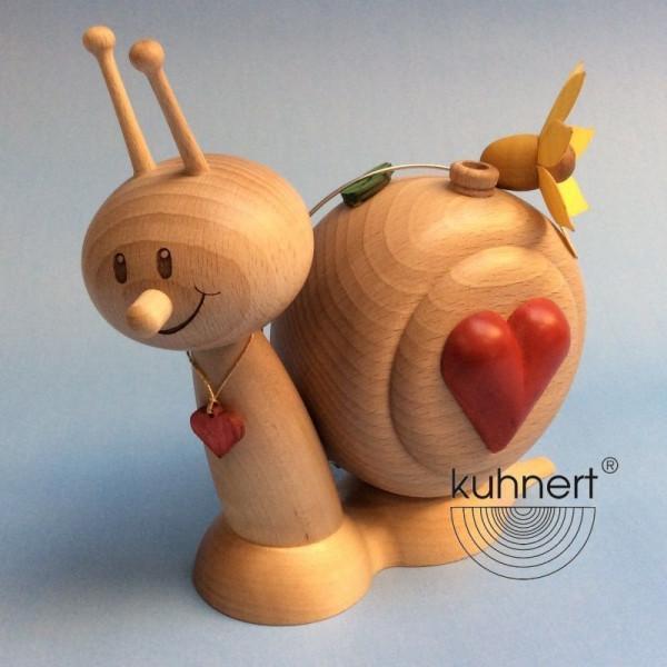 Kuhnert Erzgebirgische Räucherfigur Herzschnecke