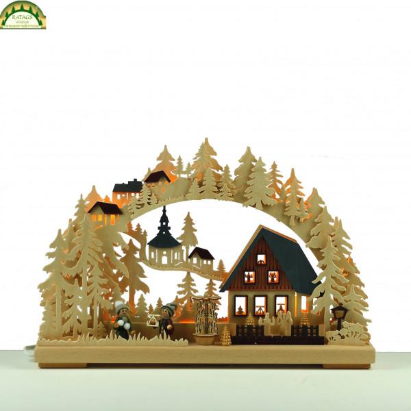3D-Schwibbogen klein, Pyramidenhaus