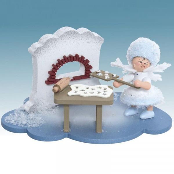 Schneeflöckchen in Weihnachtsbäckerei, Artikel 43342 Sammelfigur, Maße ca. 100 x 70 x 60 mm