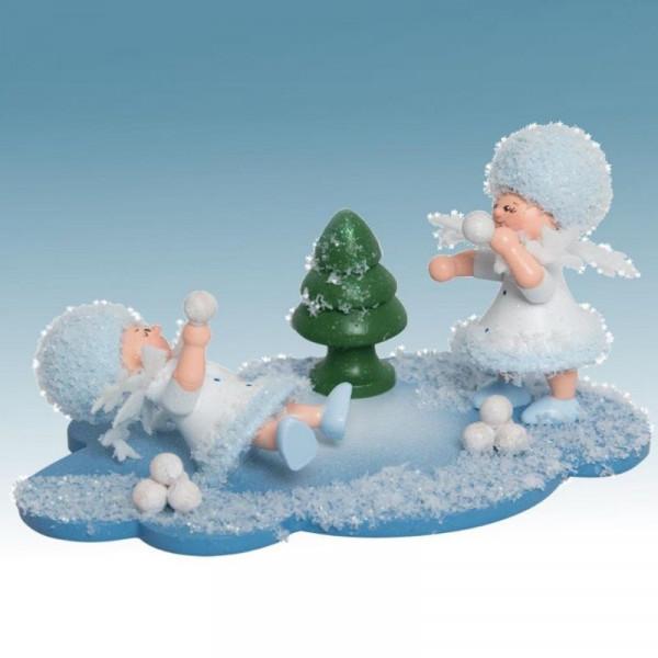Schneeflöckchen mit Schneeballschlacht, Artikel 43343 Sammelfigur, ca. 100 x 70 x 60 mm