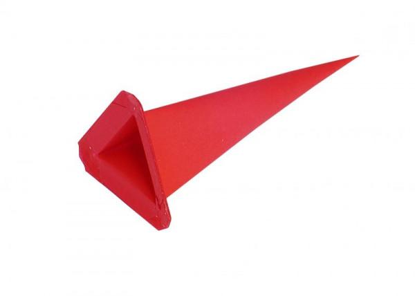 Einzelzacke I6 - Dreieck rot