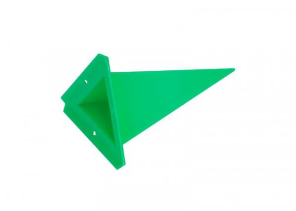 Einzelzacke A4 - Dreieck, grün
