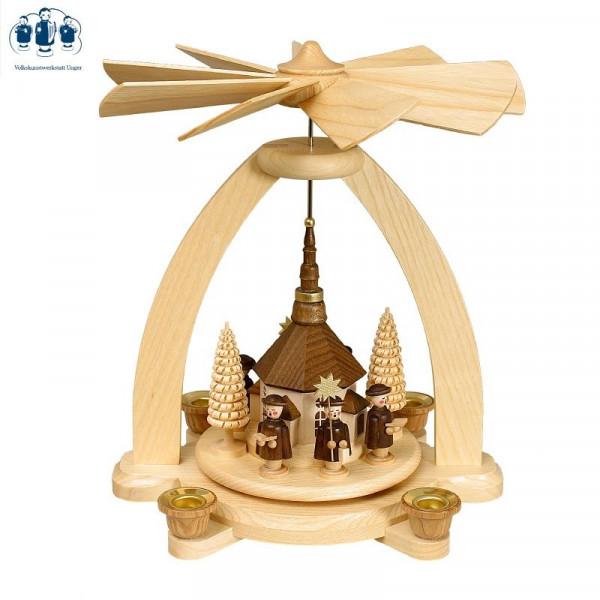 Tischpyramide Seiffener Kirche mit Kurrende
