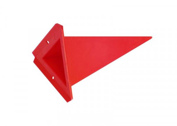 Einzelzacke A4 - Dreieck, rot